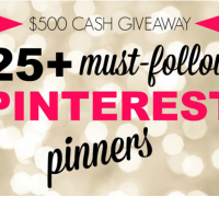 Pinterest $500 Cash Giveaway