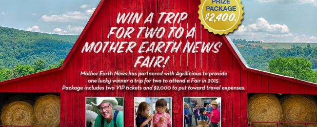 Trip for two to Mother Earth News Fair!